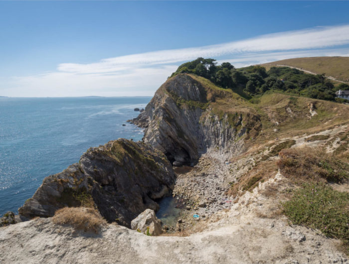 View to Stairhole near Lulworth Cove