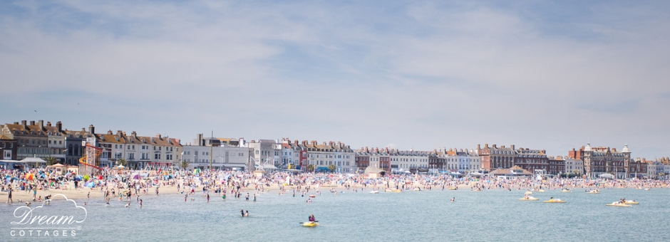 Weymouth beach in summer