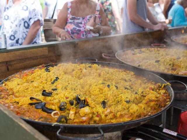 Paella at Dorset Seafood Festival 2018