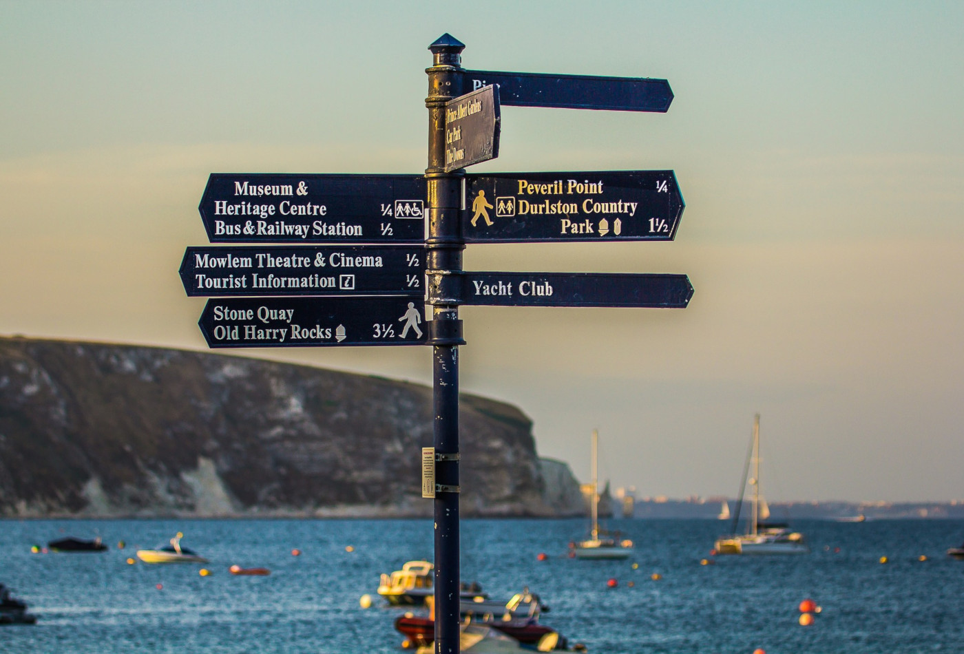 Swanage Bay Sign Post