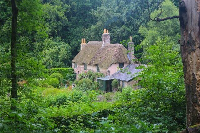 Hardys Cottage, a National trust Property in Dorset, surrounded by countryside