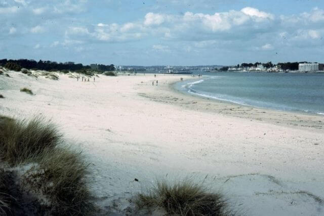 White sandy beach at Studland Bay