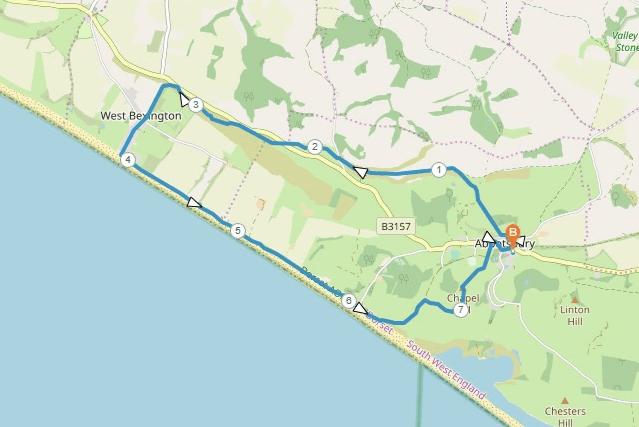Abbotsbury Walk Map