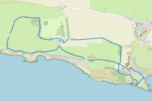 Lulworth Walk Map