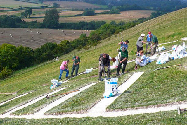 Working on the Cerne Abbas Giant